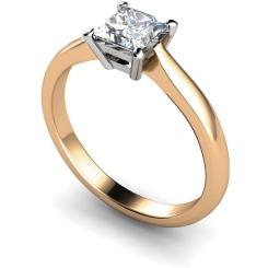 HRP283 Princess Solitaire Diamond Ring - rose