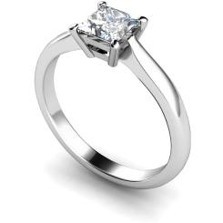HRP283 Princess Solitaire Diamond Ring - white
