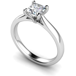 HRP323 Princess Solitaire Diamond Ring - white