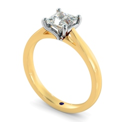 HRP323 Princess Solitaire Diamond Ring - yellow