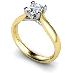 HRP328 Princess Solitaire Diamond Ring - yellow