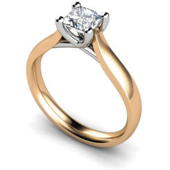 HRP328 Princess Solitaire Diamond Ring - rose