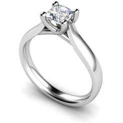 HRP328 Princess Solitaire Diamond Ring - white