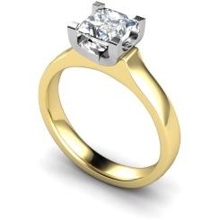 HRP330 Princess Solitaire Diamond Ring - yellow