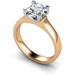 HRP330 Princess Solitaire Diamond Ring - rose