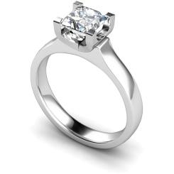 HRP330 Princess Solitaire Diamond Ring - white