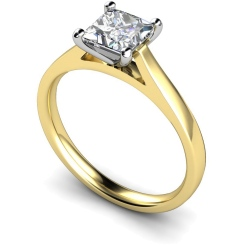 HRP341 Princess Solitaire Diamond Ring - yellow