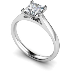 HRP341 Princess Solitaire Diamond Ring - white