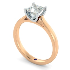HRP342 Princess Solitaire Diamond Ring - rose