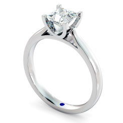 HRP342 Princess Solitaire Diamond Ring - white