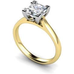HRP347 Princess Solitaire Diamond Ring - yellow