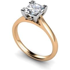 HRP347 Princess Solitaire Diamond Ring - rose