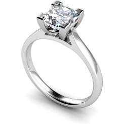 HRP347 Princess Solitaire Diamond Ring - white