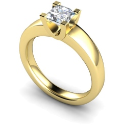 HRP352 Princess Solitaire Diamond Ring - yellow