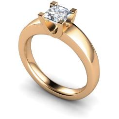 HRP352 Princess Solitaire Diamond Ring - rose