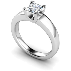 HRP352 Princess Solitaire Diamond Ring - white