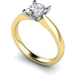 HRP364 Princess Solitaire Diamond Ring - yellow