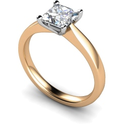 HRP364 Princess Solitaire Diamond Ring - rose