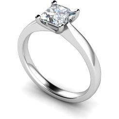 HRP364 Princess Solitaire Diamond Ring - white