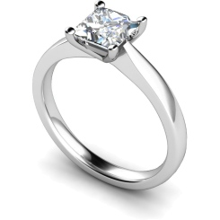 HRP364 Princess Solitaire Diamond Ring - white
