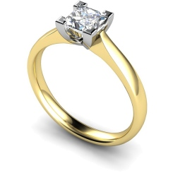HRP365 Princess Solitaire Diamond Ring - yellow