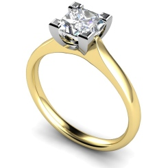 HRP373 Princess Solitaire Diamond Ring - yellow