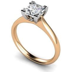 HRP373 Princess Solitaire Diamond Ring - rose