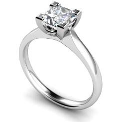 HRP373 Princess Solitaire Diamond Ring - white