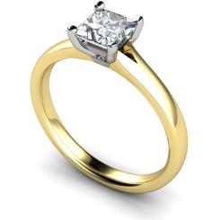 HRP379 Princess Solitaire Diamond Ring - yellow