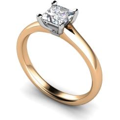 HRP379 Princess Solitaire Diamond Ring - rose