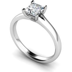 HRP379 Princess Solitaire Diamond Ring - white