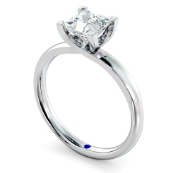 HRP387 Princess Solitaire Diamond Ring - white
