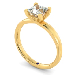 HRP387 Princess Solitaire Diamond Ring - yellow