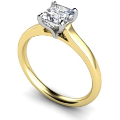 HRP391 Princess Solitaire Diamond Ring - yellow