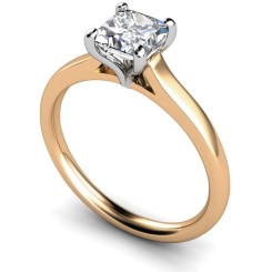 HRP391 Princess Solitaire Diamond Ring - rose