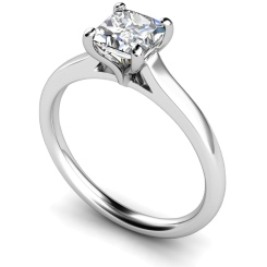 HRP391 Princess Solitaire Diamond Ring - white