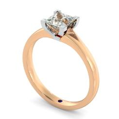 HRP402 Princess Solitaire Diamond Ring - rose