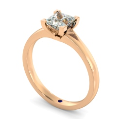 HRP402 Princess Solitaire Diamond Ring - rose
