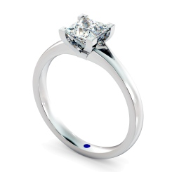 HRP402 Princess Solitaire Diamond Ring - white