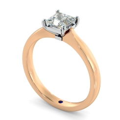 HRP423  Four Prongs Princess cut Solitaire Diamond Ring - rose