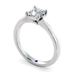HRP423  Four Prongs Princess cut Solitaire Diamond Ring - white