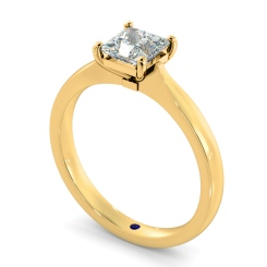 HRP423  Four Prongs Princess cut Solitaire Diamond Ring - yellow