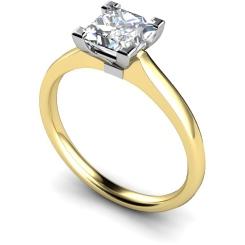 HRP490 Princess Solitaire Diamond Ring - yellow