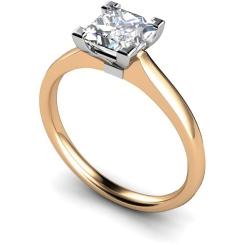 HRP490 Princess Solitaire Diamond Ring - rose