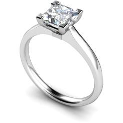 HRP490 Princess Solitaire Diamond Ring - white