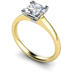 HRP493 Princess Solitaire Diamond Ring - yellow