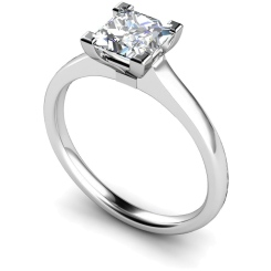 HRP493 Princess Solitaire Diamond Ring - white