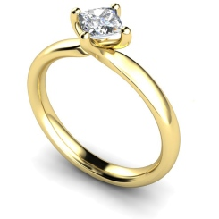 HRP542 Princess Solitaire Diamond Ring - yellow