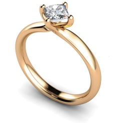 HRP542 Princess Solitaire Diamond Ring - rose