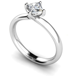 HRP542 Princess Solitaire Diamond Ring - white